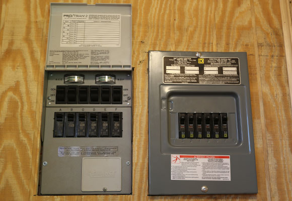 Camo-Container-Cabin-Inside-Electrical-Panel